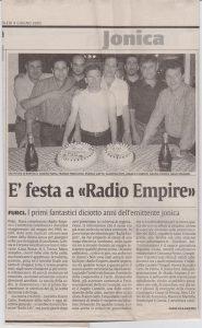 18 anni di radio empire